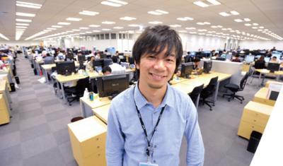 伊藤さんが勤務するグリー(株)のオフィスにて