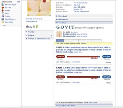 Govit.comのFacebook用アプリ。