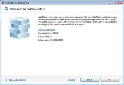 図3 Web Matrixについての説明画面