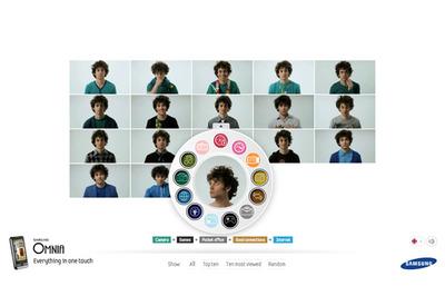 図5 ダイアル型インターフェースで見たい項目が選択できる