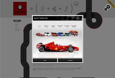 図2 レースゲームではさまざまな車種が選べる