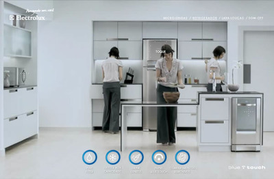 図1 女性による終わりのない映像表現が印象的なトップページ