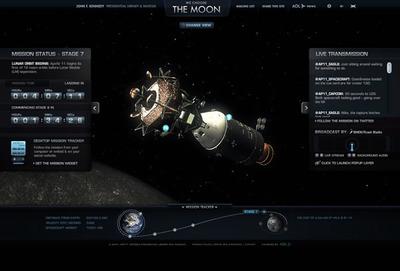 図4 打ち上げから月面着陸までを追体験することができる