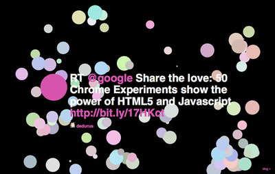 図2 HTML5に関するtwitterの発言も表示される