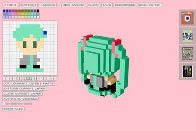 図4 ドット絵を制作するエディット画面