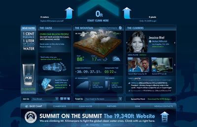 図1 大きな目標を持つSummit on the Summitのウェブサイト