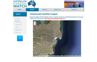 図4 刺激的な見出しが付けられた衛星写真