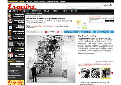 図3 「Esquire」の2009年12月号ではARが採用された