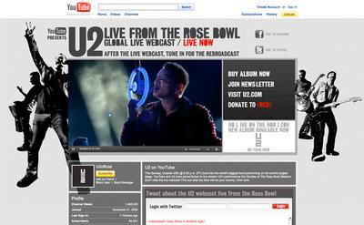 図4 『U2 360° TOUR』の模様が世界中に生中継された