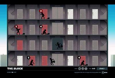 図5 ドアをクリックして空き巣の侵入を防ぐ