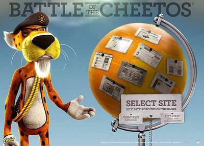 図1 スナック菓子Cheetosの世界観を生かした『Cheetos - Battle of the Cheetos』