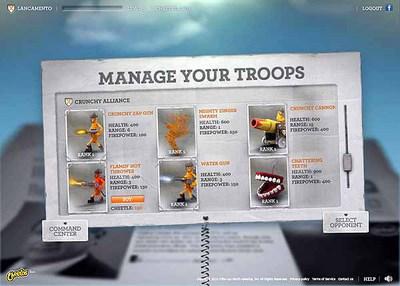 図3 戦闘後は,獲得したCheetleを使って,部隊の強化も可能