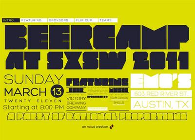 図7 2011年のSXSW(サウス・バイ・サウスウェスト)で行われるビアパーティーの告知サイト『BeerCamp at SXSW 2011』