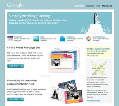 図1 『Simplify Wedding Planning with Google for Weddings』では結婚式をよりシンプルにすることを目指している