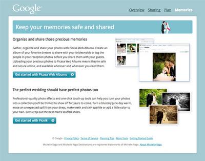 図2 Googleの各種ウェブサービスを使うことで,結婚準備に必要な時間を節約する