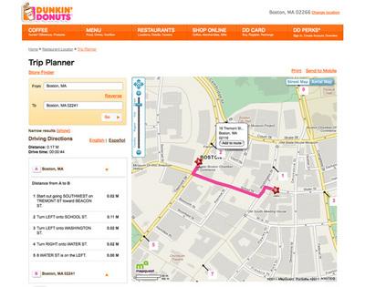 図3 店舗検索の「Trip Planner」など,ローカル性の高い情報が充実した