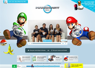 図3 「Mario Kart Wii」の内容を紹介する『Mario Kart Wii Experience』
