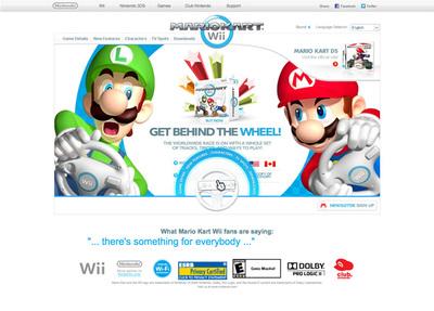 図5 Nintendo of Americaによる「Mario Kart Wii」のプロモーションサイト『Mario Kart Wii』