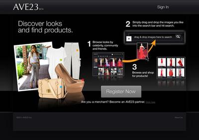 図1 画像検索が特徴的なファッションサイト『AVE23.com』