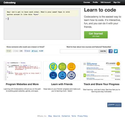 図1 対話形式でプログラムが学べる『Codecademy』