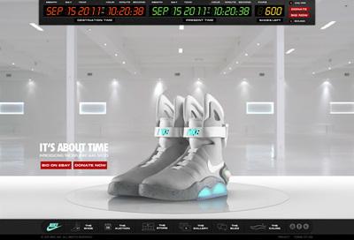 図1 『Back 4 The Future』は,Nikeの「The 2011 NIKE MAG」を紹介している