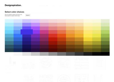 図6 色から作品を検索できる仕組みも備えている