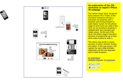 図3 Appleのウェブサイトで使われているCSSアニメーションを解説している