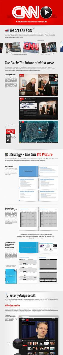 図3 縦に長いウェブサイトが,制作における数多くのプロセスを表す