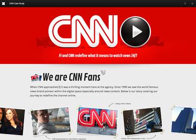 図1 ウェブサイトの制作プロセスを紹介した『Fi case study: CNN』