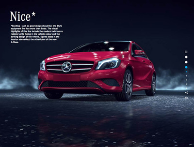 図1 『Mercedes-Benz - the new A-Class - 2012』