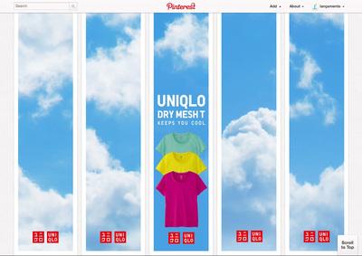 図1 『Uniqlo / Pinterest』は,画像で作られたモザイクを利用したプロモーション