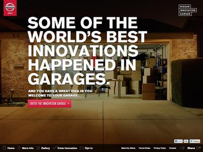 図1 アイデアの実現を手助けする「Nissan Innovation Garage」のウェブサイト
