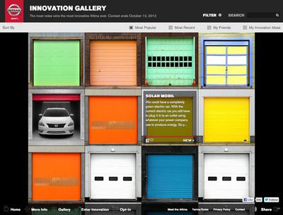 図2 「Gallery」には,ユーザーからのアイデアが並ぶ