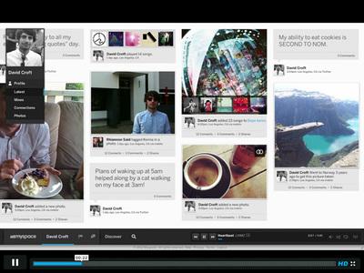 図2 「Preview the new Myspace」では,新しい「Myspace」を紹介した動画が視聴できる
