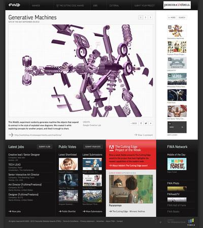 図3 リニューアルされたウェブデザインポータルサイト『TheFWA』