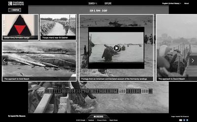 図5 写真や動画などの歴史的資料が閲覧できる