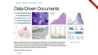 図3 インフォグラフィックなどで利用されている「D3.js」