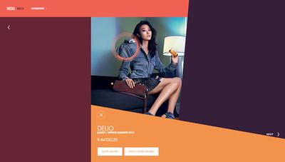 図8 「Spring Summer Campaign 2013」など,同時に公開されたコンテンツもフラットなデザインが特徴