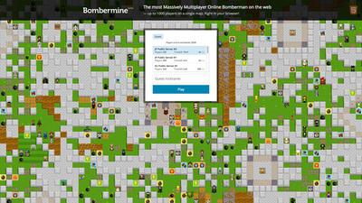 図1 1000人が同時に遊べるオンラインゲーム,『Bombermine』