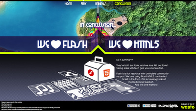 図6 ウェブサイトの最後に登場する,Waste Creativeからのメッセージ。