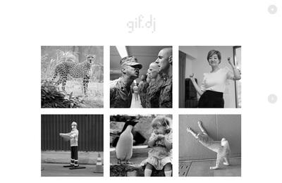 図3 ウェブサイトで流れる音楽に合わせ,リズミカルに画像が動く『gif.dj』