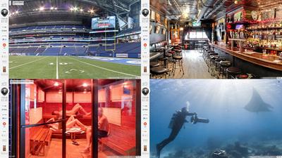 図4 店内,スタジアム,海中と,さまざまな場所に移動が可能