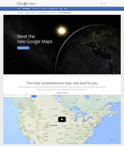 図4 新しいGoogle Mapsを紹介している『The new Google Maps』