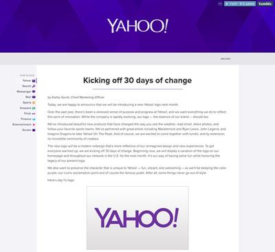 図1 日替わりでロゴが発表される「Kicking off 30 days of change」