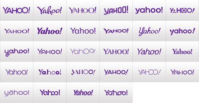 図2 『The New Yahoo! Logo』で紹介された様々なロゴ