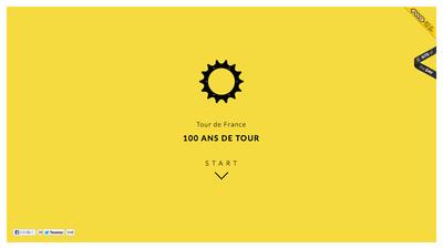 図1 ツール・ド・フランス全100回のデータを美しいインフォグラフィックで表現した『100 ans de tour』