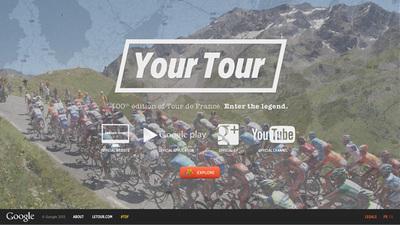 図3 Googleの持つコンテンツを最大限に利用した,『Your Tour』