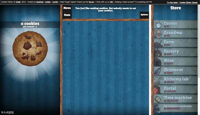 図5 クッキーを増やしていくゲーム,『Cookie Clicker』
