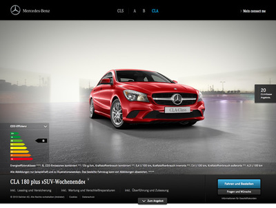 図3 Daimler AGによるが開始した自動車のネット販売サイト『Mercedes-Benz connect me Hamburg.』