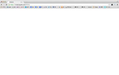 図5 真っ白い画面のCroacia Audioのコンテンツは音声のみ